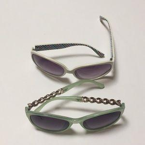 Two pairs sunglasses
